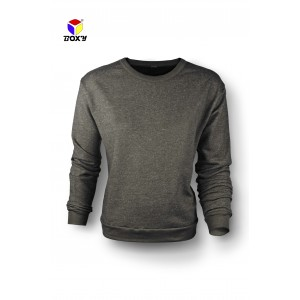 BOXY Ladies Baju Long Sleeves Fleeced Sweater - Dark Heather